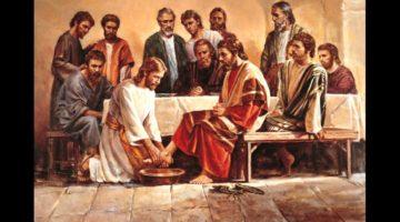 Иисус омывал ноги ученикам